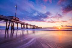 Venice Pier (Karl Erik Vasslag Photography) Tags: losangeles la venice venicepier california sunset seascape pier socal southerncalifornia seascpae landscape beach pacificocean venicebeach water ocean longexposure sun