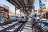 The bright light of Broadway (Several seconds) Tags: broadway brooklyn light elevatedtrain summerinthecity richardestes