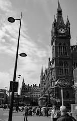 St Pancras, London (angelacleasby) Tags: saint pancras london england underground uk subway blackandwhite city photography