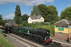 Double Bulleid 1 (davesculley) Tags: bulleid light pacific double heading mid hants gala