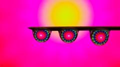 Again - 3247 (YᗩSᗰIᘉᗴ HᗴᘉS +6 500 000 thx❀) Tags: drops pink macro drop droplet needle mandala three hensyasmine