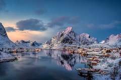 Reine (ArminFuchs) Tags: reine lofoten norway landscape winter snow mountain mountains sunset