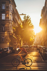 Catching the Light. (www.juliadavilalampe.com) Tags: light sunset sun bike bicycle vienna austria wien österreich people travel destination viena home city urban outdoors