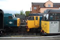 Severn Valley Railway Diesel Gala (Paul Emma) Tags: uk england kidderminster severnvalleyrailway railway railroad dieseltrain train 31271 50049 45060