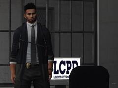 ʜᴜᴍᴀɴs ᴏғ ʟɪʙᴇʀᴛʏ ᴄɪᴛʏ - ᴋᴀʀɪ ɴᴇɢʀᴏsᴍɪᴛʜ (LibertyCityNewsNetwork) Tags: liberty city police department second life mesh avatar slmesh slfashion guns hunks law and order gta
