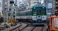 2017 - Japan - Kyoto -  Fushimi Inari - 8 of 8 (Ted's photos - For Me & You) Tags: 2017 cropped japan kyoto nikon nikond750 nikonfx tedmcgrath tedsphotos vignetting train kyotojapan fushimiinaristation trainstation railway railroad tracks traintracks