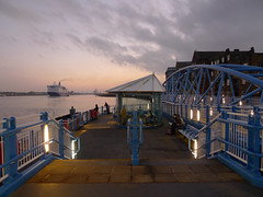 North Shields ferry landing (harrytaylor6) Tags: ferry dfds river tyne transport princessseaways north shields boat waterway dusk