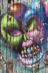 Ha Ha Said The Clown (gripspix (OFF)) Tags: 20170703 graffito painting malerei skull schädel laughing lachend