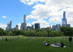 Sunday Colours - New York Beach with a View (Pushapoze (nmp)) Tags: newyorkcity centralpark greatlawn sunbathing skyline grass herbe lagrandepelouse