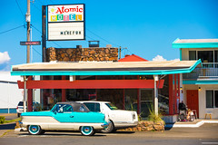The Perfect Love Song (Thomas Hawk) Tags: america astoria atomicmotel oregon oregoncoast usa unitedstates unitedstatesofamerica auto automobile car motel neon us fav10 fav25 fav50 fav100