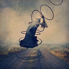 journeying (brookeshaden) Tags: brookeshaden hulahoops ascension darkart fineartphotography goodvsevil conceptualart selfportraiture