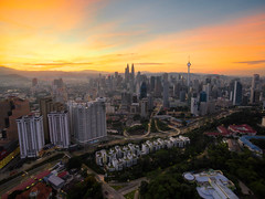 Sunrise of Kuala Lumpur