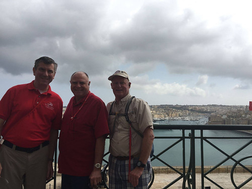 Alumni Bart Howard, Steve Silvestri, and Dick Lambert together in Malta.