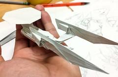 Enterprise-A retouched for new diagram (Matayado-titi) Tags: sugamata spaceship starship startrek enterprise origami refit ncc1701a