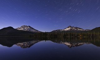 Stars Reflected in Sparks Lake (Mt Bachelor area, OR)
