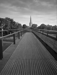 Jarrold Bridge, Norwich (John | Adrian | Orr | Photography) Tags: norwich norfolk shanghaigp3 ilfordlc29119 epsonv500scan black white monochrome fuji gs 645w 645 120 test