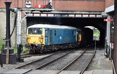 SR pairing of 33109 and 73001 at Bury, ELR Diesel Gala (colin9007) Tags: railway lancashire east diesel gala bury brcw sulzer class 33 331 type 3 33109 english electric electro 73 730 73001 e6001