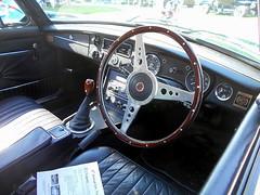 1975 MGB GT (splattergraphics) Tags: 1975 mgb gt mg bgt mgbgt interior dash carshow fairmountpark redlionpa