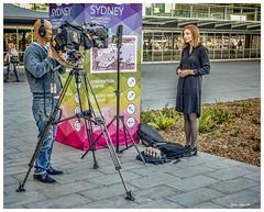 Shrinking TV Camera Crews (TOXTETH L8) Tags: sydney darlingharbour newsouthwales australia australian financial stagnation unemployment nilwagegrowth tv camera operators onairpresenters