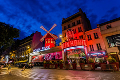 Moulin Rouge by night (emilqazi) Tags: moulin rouge paris france city cityscape citylife nightlife red mill rochechouart boulevard travel night nightscape lights