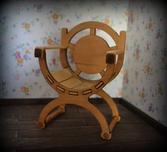 chair for doll (pe.kalina) Tags: dollhouse dolls diorama roombox furniture miniature chair handmade blythe barbie momoko poppy parker fashion fr scale playscale
