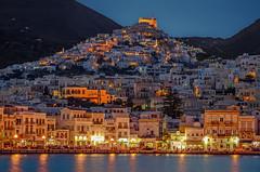 Ermoupolis (dipphotos) Tags: greece sea island evening lights bluehour nightlight nightshot