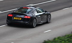 Audi, R8 V10, Wan Chai, Hong Kong (Daryl Chapman Photography) Tags: ty238 audi r8 german pan panning wanchai car cars auto autos automobile canon eos 1d mkiv is ii 70200l f28 road engine power nice wheels rims hongkong china sar drive drivers driving fast grip photoshop cs6 windows darylchapman automotive photography hk hkg bhp horsepower brakes gas fuel petrol topgear headlights worldcars daryl chapman darylchapmanphotography