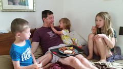Father's Day Breakfast in Bed (tadnkat) Tags: fathersday kids breakfastinbed