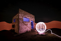 Where Light Lives, V2 (Lightcrafter Artistry) Tags: orb lightpainting light night nightphotography stars building longexposure