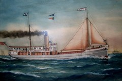 'Tuncurry II' (1909 - 1950) - Painting by A. W. Dufty (Great Lakes Manning River Shipping NSW) Tags: midnorthcoast shipbuilding glmrsnsw australia greatlakesnsw nswgreatlakes capehawkeharbour tuncurry tuncurryii tuncurry2jwbst johnwrightsyt wrightshipst allentaylorco camandsons historicgreatlakes wrightshipyards tuncurry21909 johnwright on125205 pountneyandmcpherson historictuncurry donwright