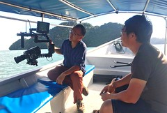 Working on a quick and efficient  set up for dolphins and island shoot.