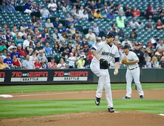 James Paxton pitching for Seattle (hj_west) Tags: baseball philadelphiaphillies seattlemariners safecofield mlb interleague stadium night sports