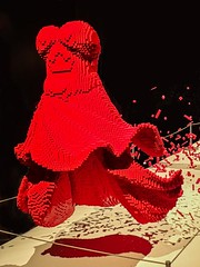 Red Dress by Lego artist Nathan Sawaya (mharrsch) Tags: red dress lego sculpture art nathansawaya artofthebrick exhibit omsi oregonmuseumscienceandindustry oregon mharrsch