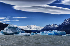 Icebergs on Lago Grey (marko.erman) Tags: patagonia chile andes magellanes landscape lake glacier iceberg clouds lenticular spectacular nature pov beautiful sunny panorama artctic waves windy wild rough torres paine ciel paysage lac eau torresdelpaine