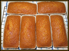 Golden Honey & Ginger Cakes (Margaret Edge the bee girl) Tags: cake golden honey food baking baked sweet loaf cooling indoors recipe