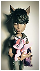 wolf and unicorn  🐺 (ninimoon =^x^=) Tags: monster high boy clawd wolf mattel male doll
