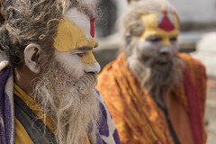 Holy men (alfienero) Tags: holy hinduism hindu religion face people portrait colours nepal pashupatinath