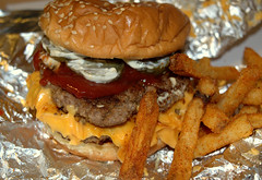Five Guys Bacon Cheeseburger and Cajun Style Fries (Tony Worrall) Tags: add tag ©2017tonyworrall images photos photograff things uk england food foodie grub eat eaten taste tasty cook cooked iatethis foodporn foodpictures picturesoffood dish dishes menu plate plated made ingrediants nice flavour foodophile x yummy make tasted meal five guys bacon cheeseburger cajun style fries fiveguys bun dirty