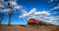 Westbound Train (ap0013) Tags: train desert bnsf railroad rail bnsfrailroad nm new mexico newmexico clovis clovisnewmexico west