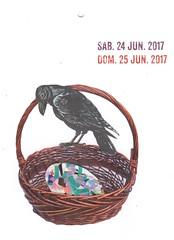 june 24th/25th, 2017 (kurberry) Tags: collage collageaday analoguecollage vintageephemera egg basket raven