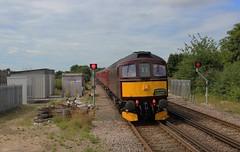 33025, D6516 WRM 1023 ex-SGE 8-7-17 (6089Gardener) Tags: lswrmainline wareham 33025 class33