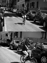 [La Mia Città][Pedala] (Urca) Tags: milano italia 2017 bicicletta pedalare ciclista ritrattostradale portrait dittico bike bycicle nikondigitale scéta biancoenero blackandwhite bn bw 10227
