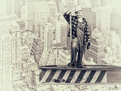 hard work (Schneeglöckchen-Photographie) Tags: hard work buildingsite new york newyork baustelle bauarbeiter
