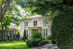 Green Street stone house (ellyn writing) Tags: neighbourhood greenstreet limestone formal garden txeeptopaz guelph ontario canada