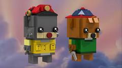 Baloo and Kit (Oky - Space Ranger) Tags: lego brickheadz disney afternoon cartoon toon talespin baloo kit cloudkicker