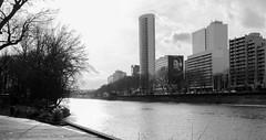 calme (Rudy Pilarski) Tags: architechture arquitectura urbain urban urbano laseine water fleuve eau ambiance bw nb nikon tamron thebestoffnikon paris paysage perception sensation river