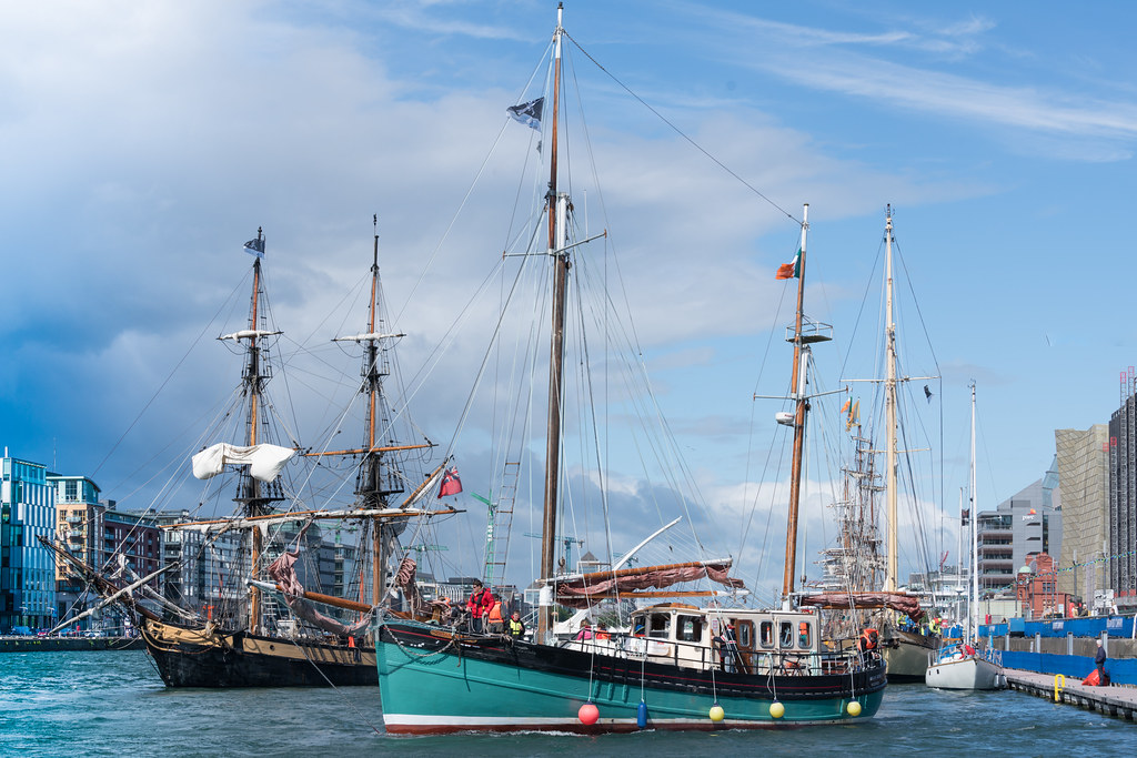 THE BRIAN BORU [SETS SAIL FROM DUBLIN AFTER THE DUBLIN PORT RIVERFEST 2017]-129409