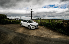 Hyundai 1.2SE i20 2017. (CWhatPhotos) Tags: cwhatphotos olympus omd em5 mkii mk ii four thirds view digital camera photographs photograph pics pictures pic picture image images foto fotos photography artistic that have which with contain artistc art light auto automobile car white hyundai i20 hyundaii20 12se 12 se vehicle 2017 new brand wind turbine turbines renewable energy farm countryside flickr