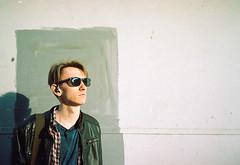 Frame (newmandrew_online) Tags: filmisnotdead film filmphotografy ishootfilm 35mm mju mjuii olympus minsk belarus face man plustek people portrait color minimalism minimal street
