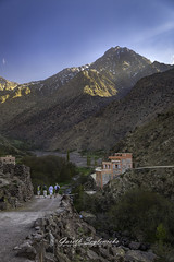 Evening in the Atlas (gseglenieks) Tags: morocco africa atlas mountains mountain evening sun sunset village rural explore adventure trek trekking hike hiking travel wanderlust cultural holiday vacation nature natural valley stream river rocks rocky path track rustic